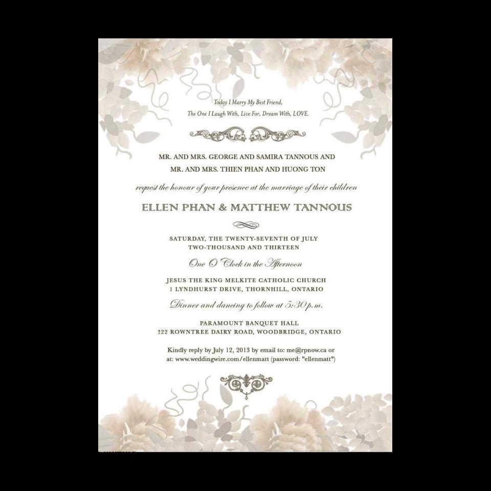 Wedding Invitation Card of Ellen&Matt on Behance