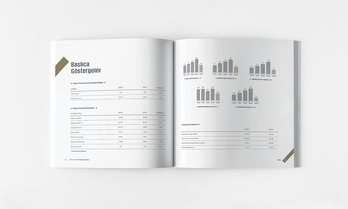 annual report book cover font portfolio infographic magazine report brochure catalog Bank logo logofolio mock minimal