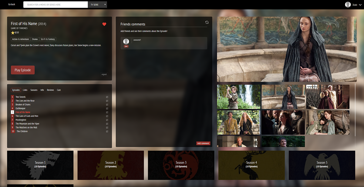 Movies tv series HTML css php mysql Web stream design box style