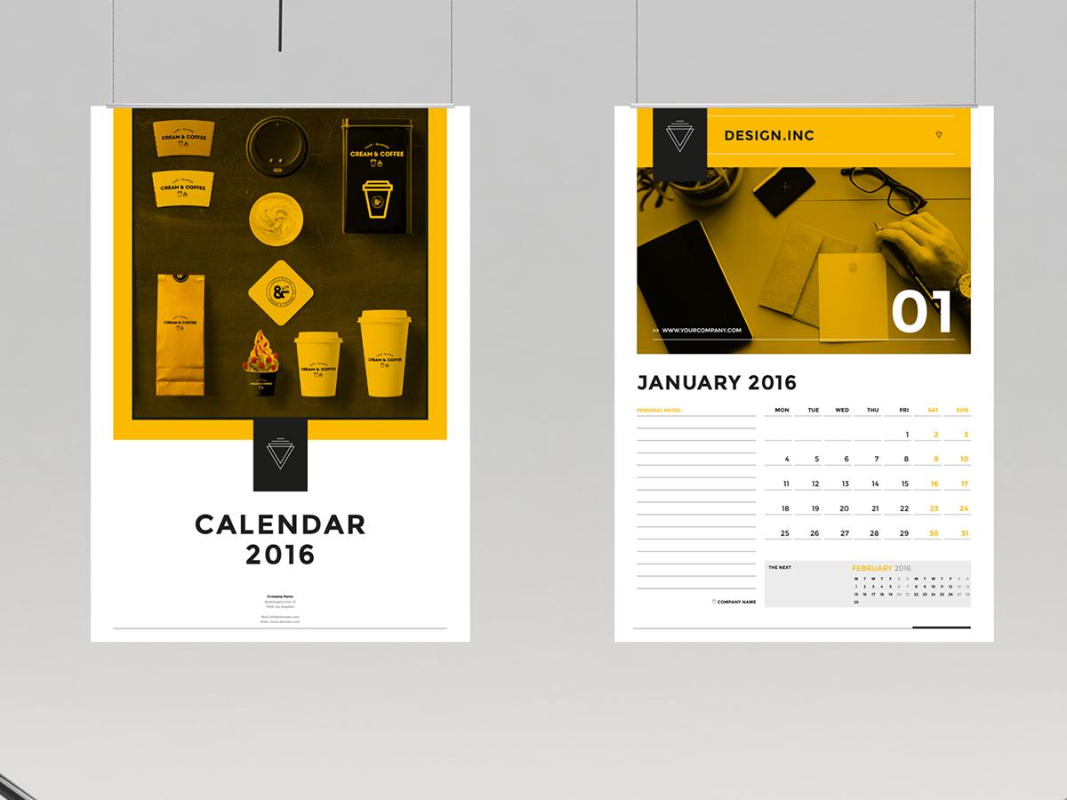 Calendar Design Behance : Calendar and on behance