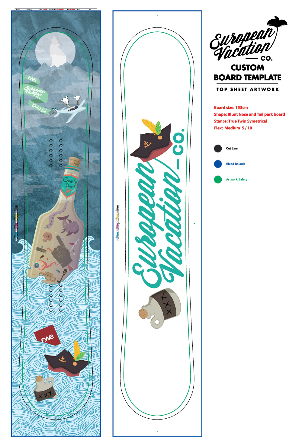 European Vacation Custom Snowboard Designs on Behance