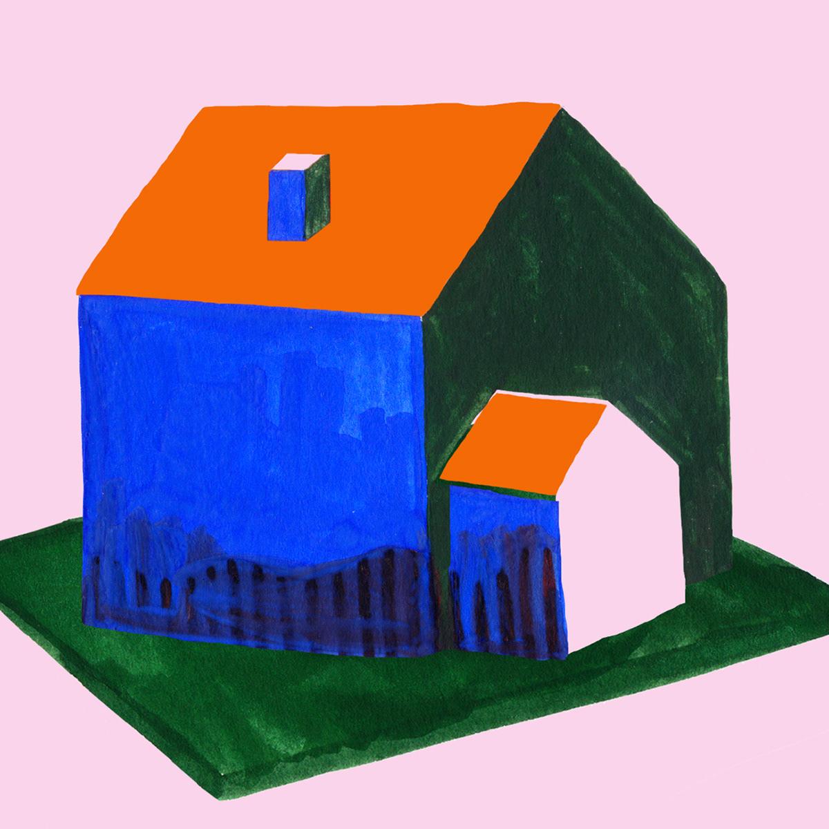 home maison living decor ILLUSTRATION  painting   collage colors