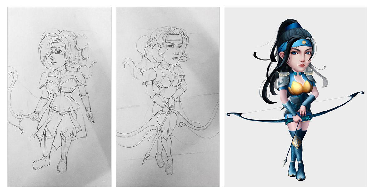2d artist art concept concept art designer VN Digital Art  hoạt hình mầm Illustrator mam thinh brand