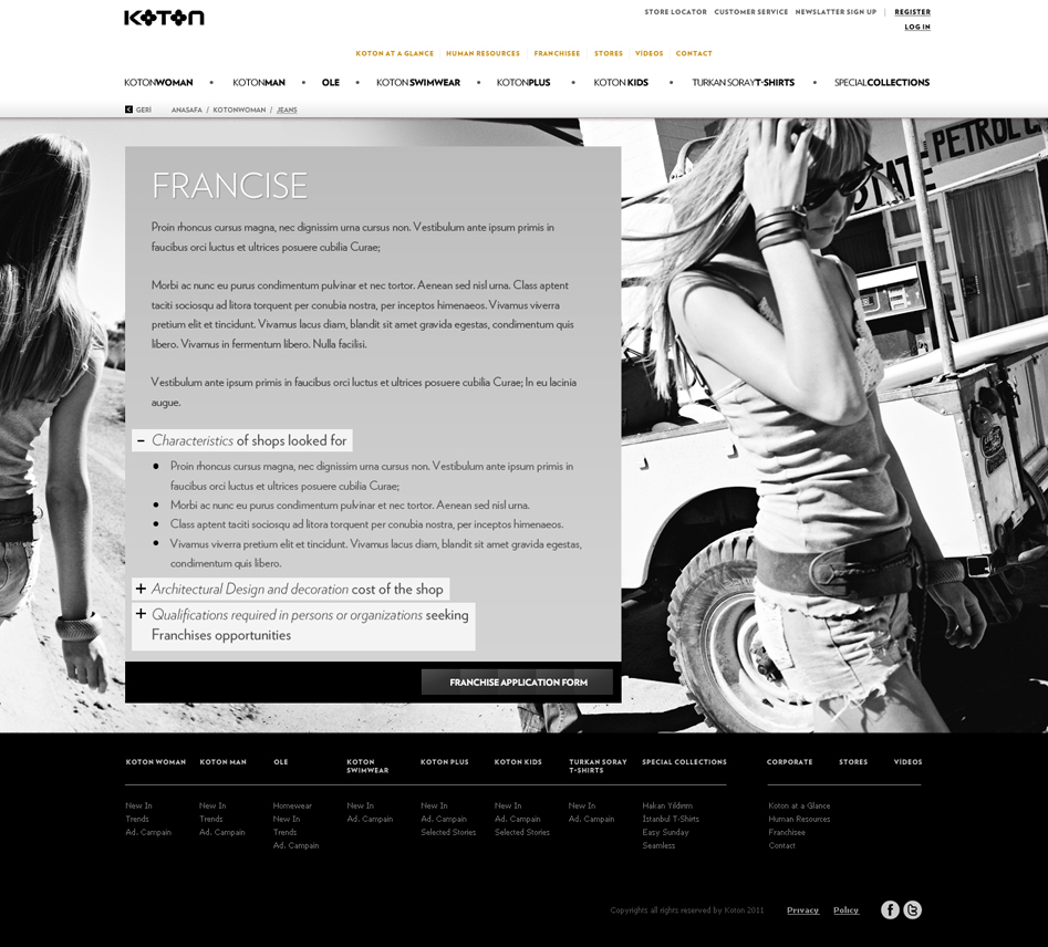 koton      corporate web site u0026 39 11  freelance on behance