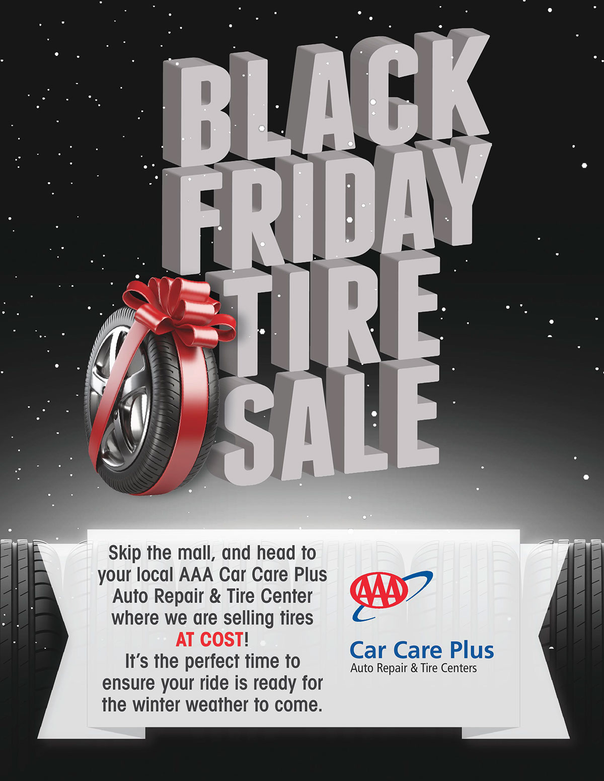 Aaa Black Friday Tire Sale Ad 2015 On Behance