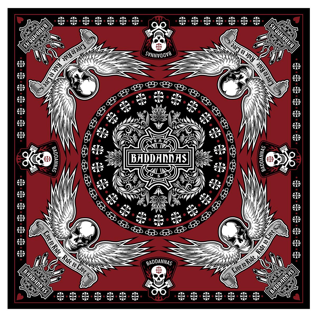 Handkerchiefs Biker Gear harley baddannas logos headwear clothing art scarfs bike art Harley Davidson