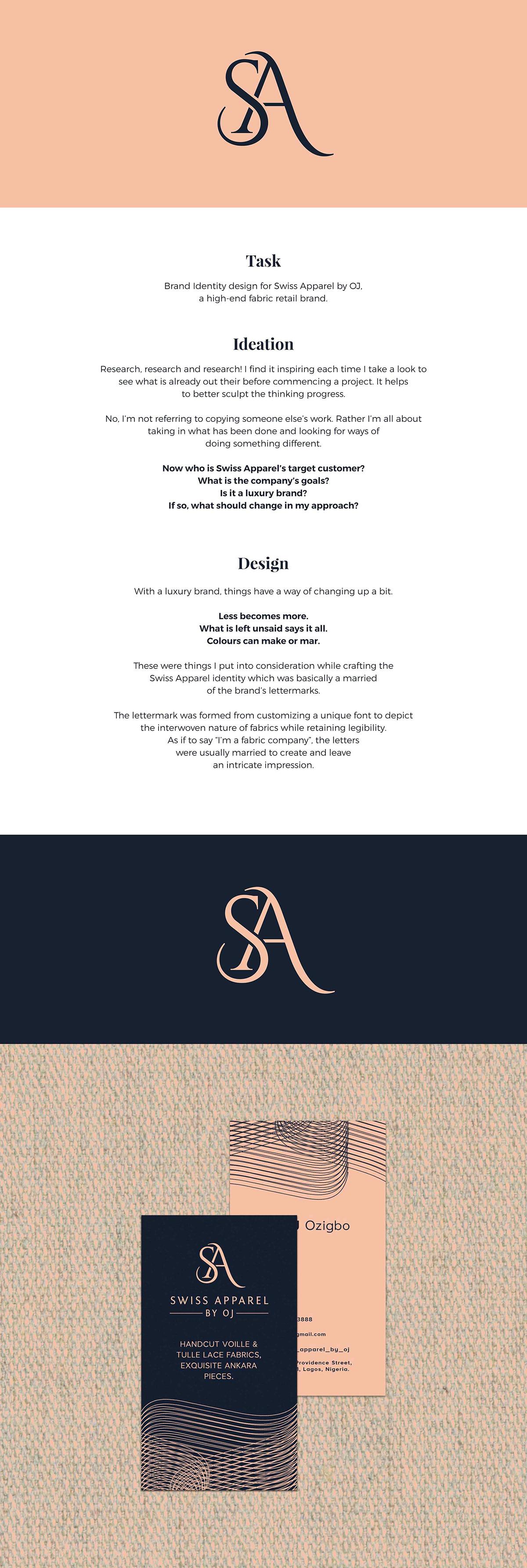 branding  fabric Fashion  luxury identity logo Logo Design