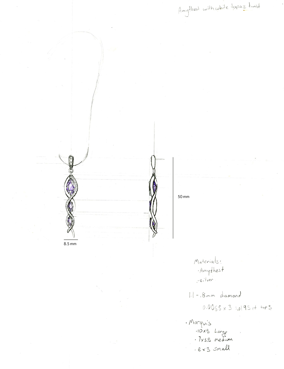 suite jewelry Renderings sketches ideation
