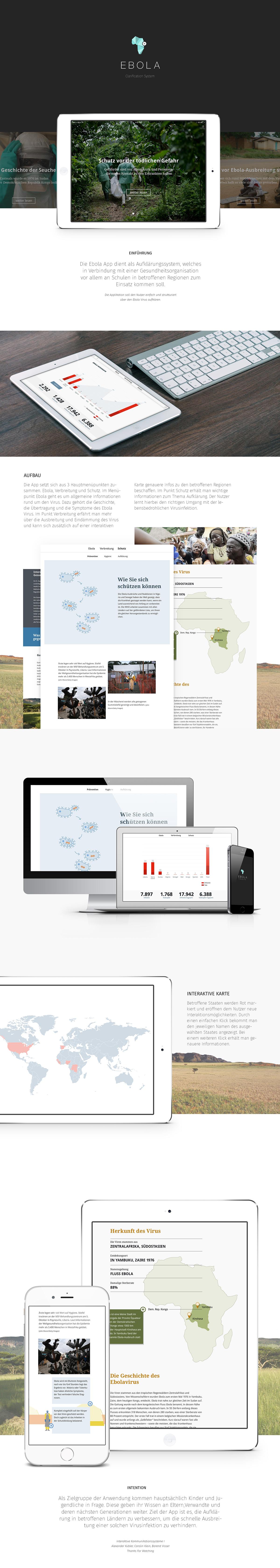 UI app mobile interactive Clarification ebola communication system