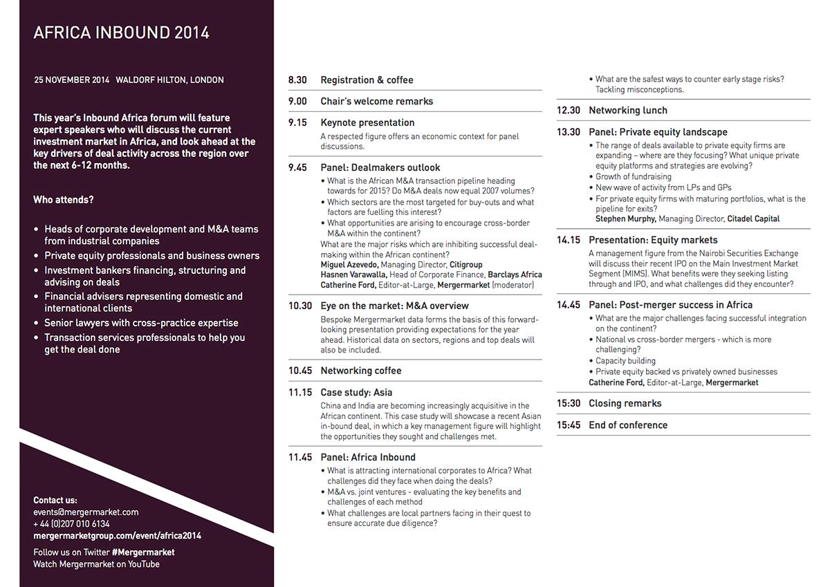 MM Event Agendas on Behance – Event Agendas