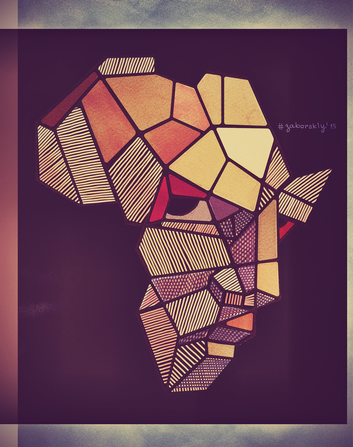africa afro poster face eyes