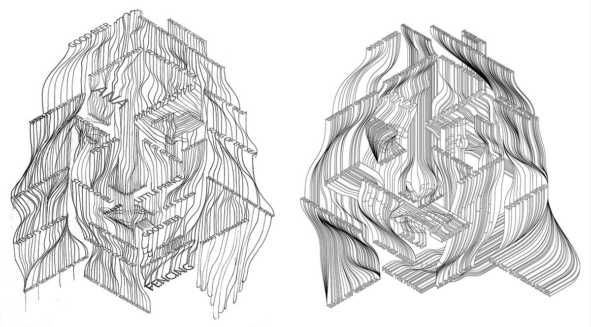 Becks,beer label,adobe,vector,Isometric,3D Type,made up,3D lettering,animals,giraffe