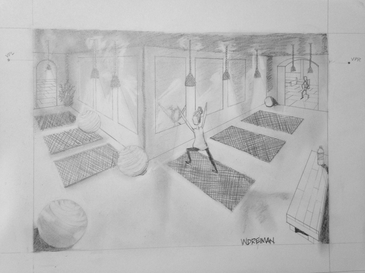 perspective drawing interior design