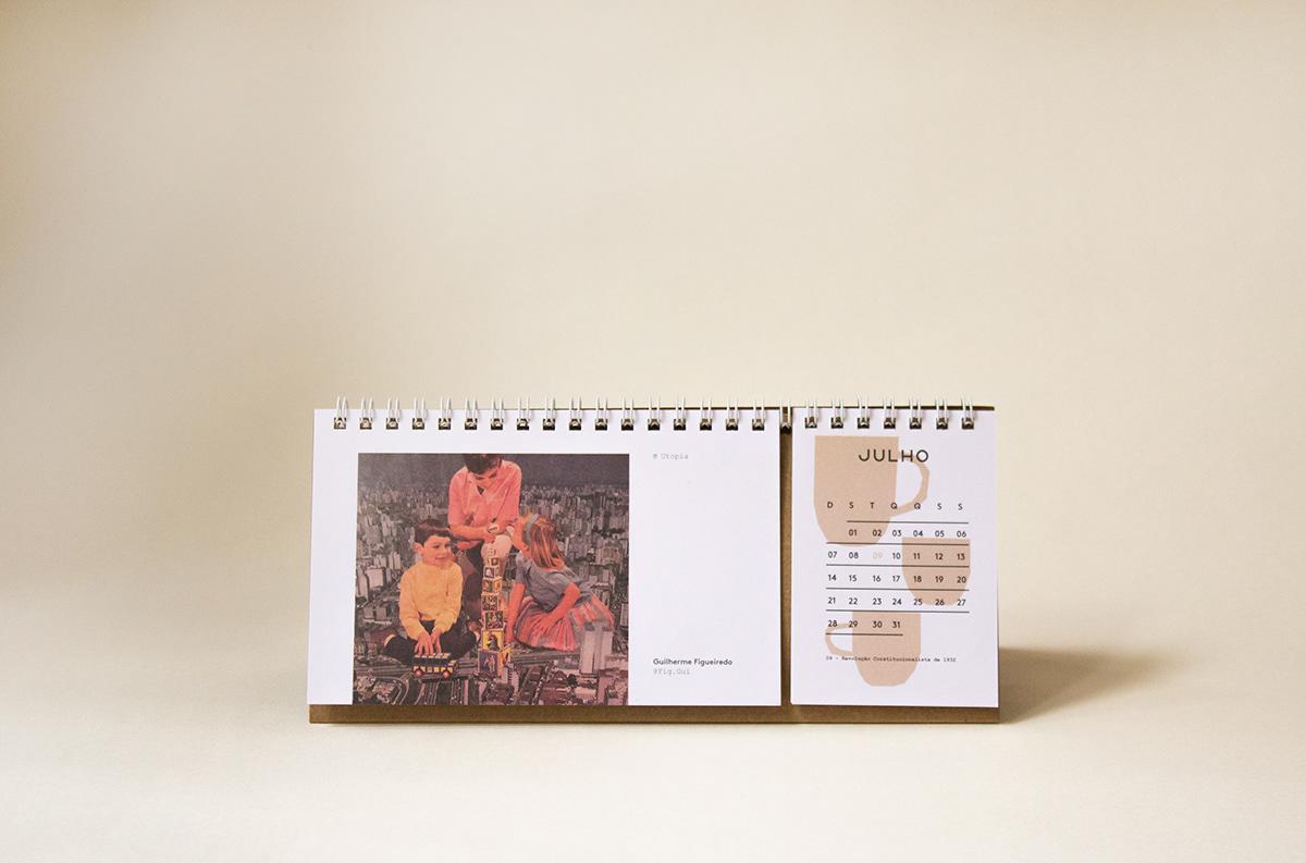 calendar brochure illustrations plants Coffee