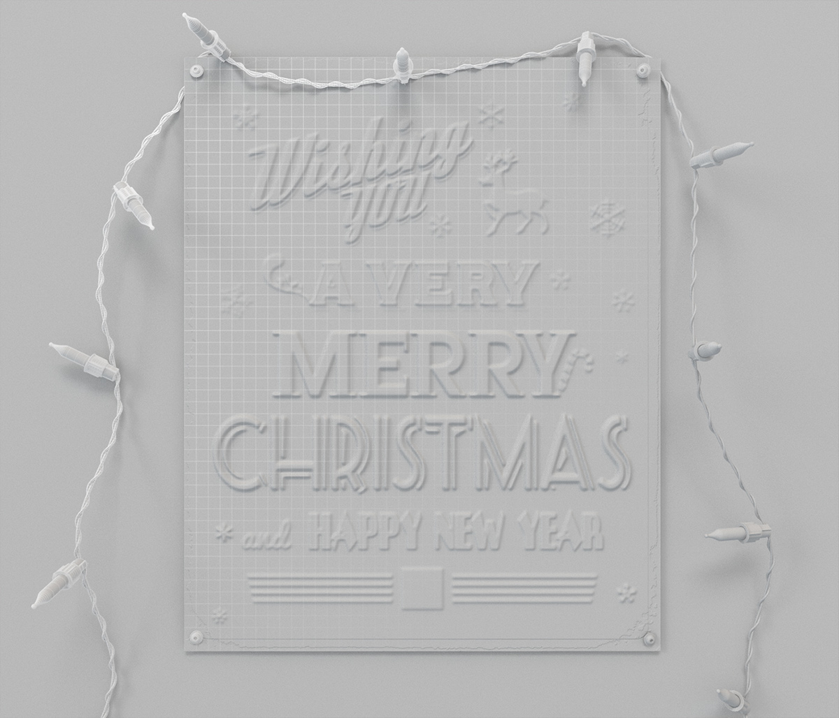 CGI 3D modelling Visualising Christmas enamel sign lights xmas