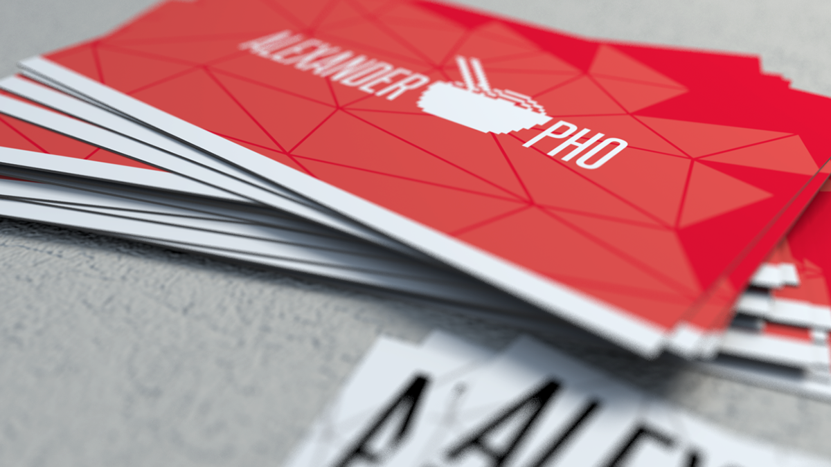 Alexander Pho business cards on Behance
