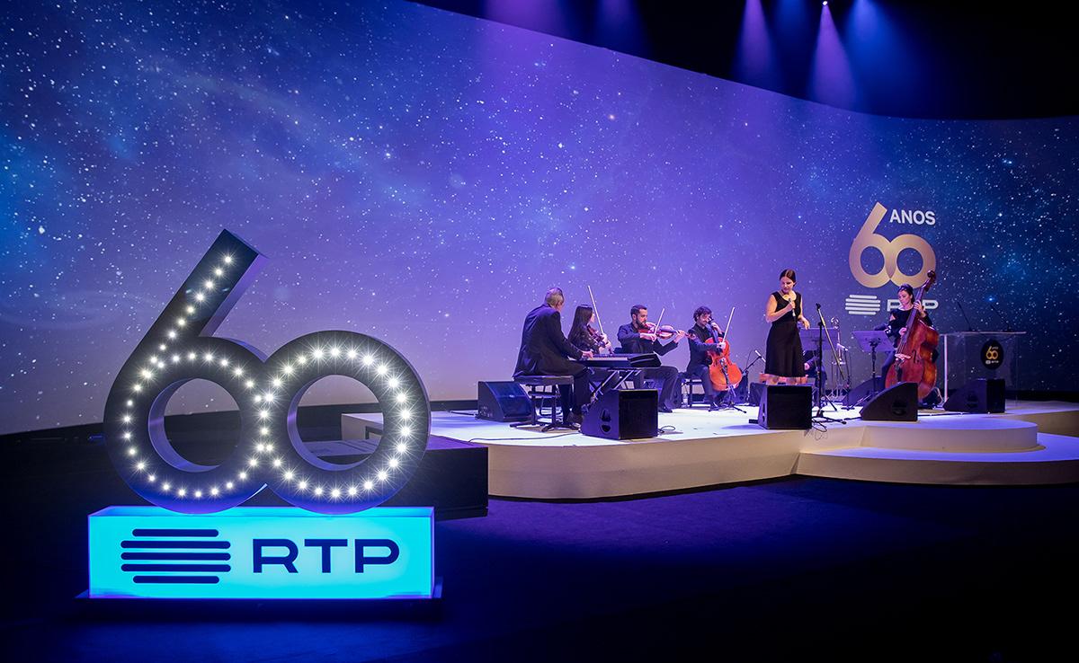 RTP 60 ANOS 60 ANOS RTP EVENTO RTP EVENTOS RTP design Events graphic design  Key Visuals tv