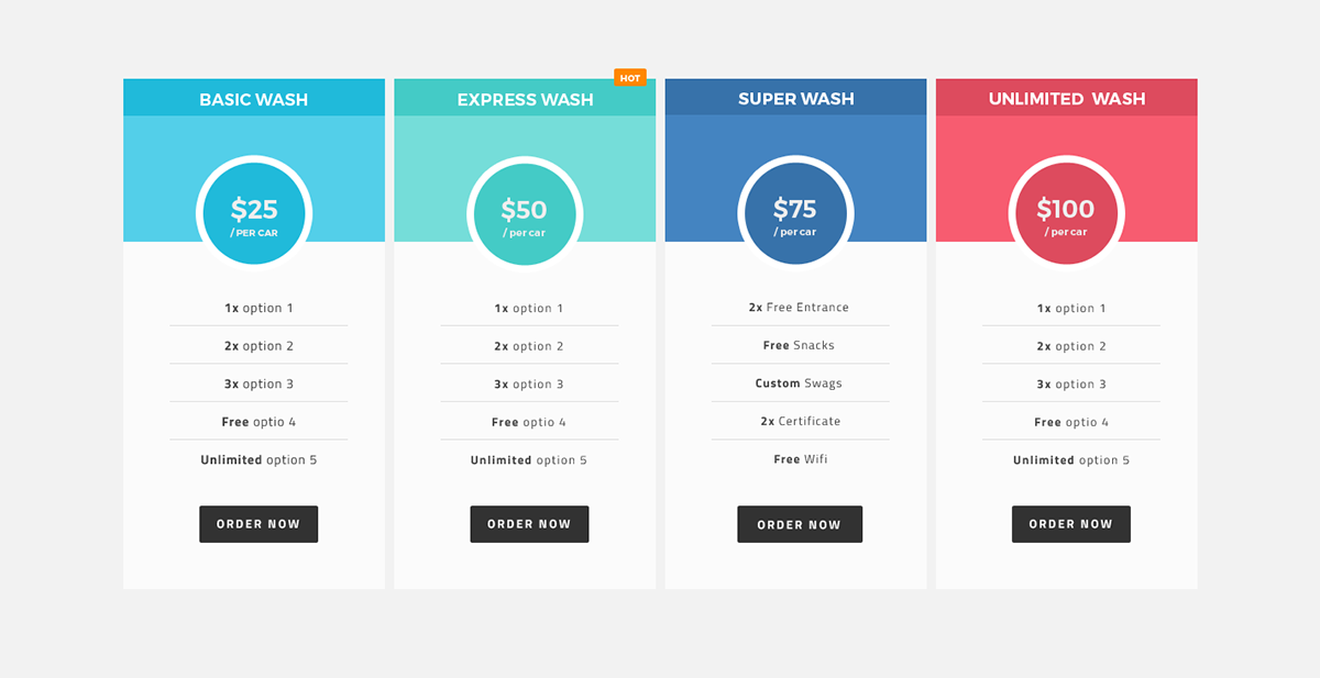 Pricing table ui design on behance for Table ui design