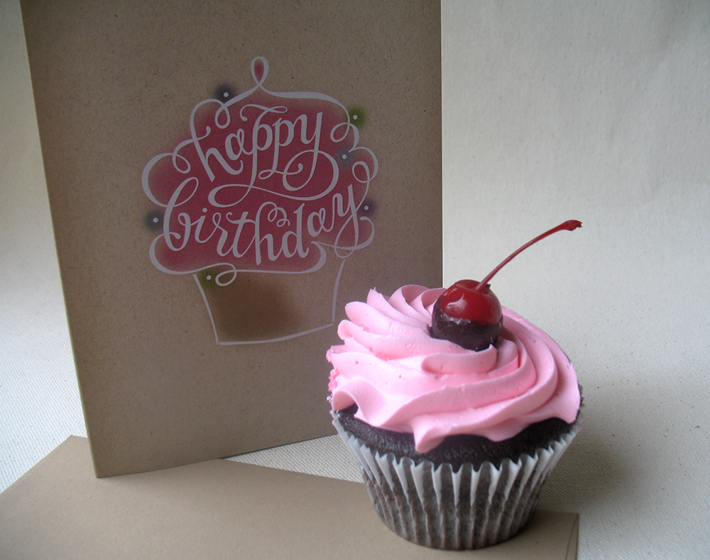Happy Birthday Cupcake Cards On Behance