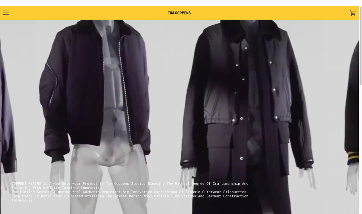 tim coppens Woolmark haw-lin video jackets Fashion  High End Outerwear New York product