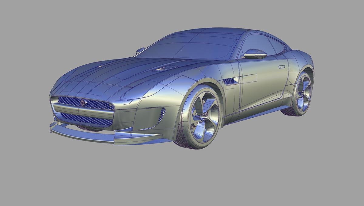 jaguar f type alias model on behance. Black Bedroom Furniture Sets. Home Design Ideas