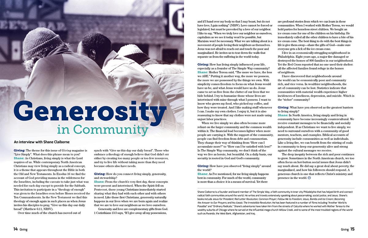 Layout Design Magazine design