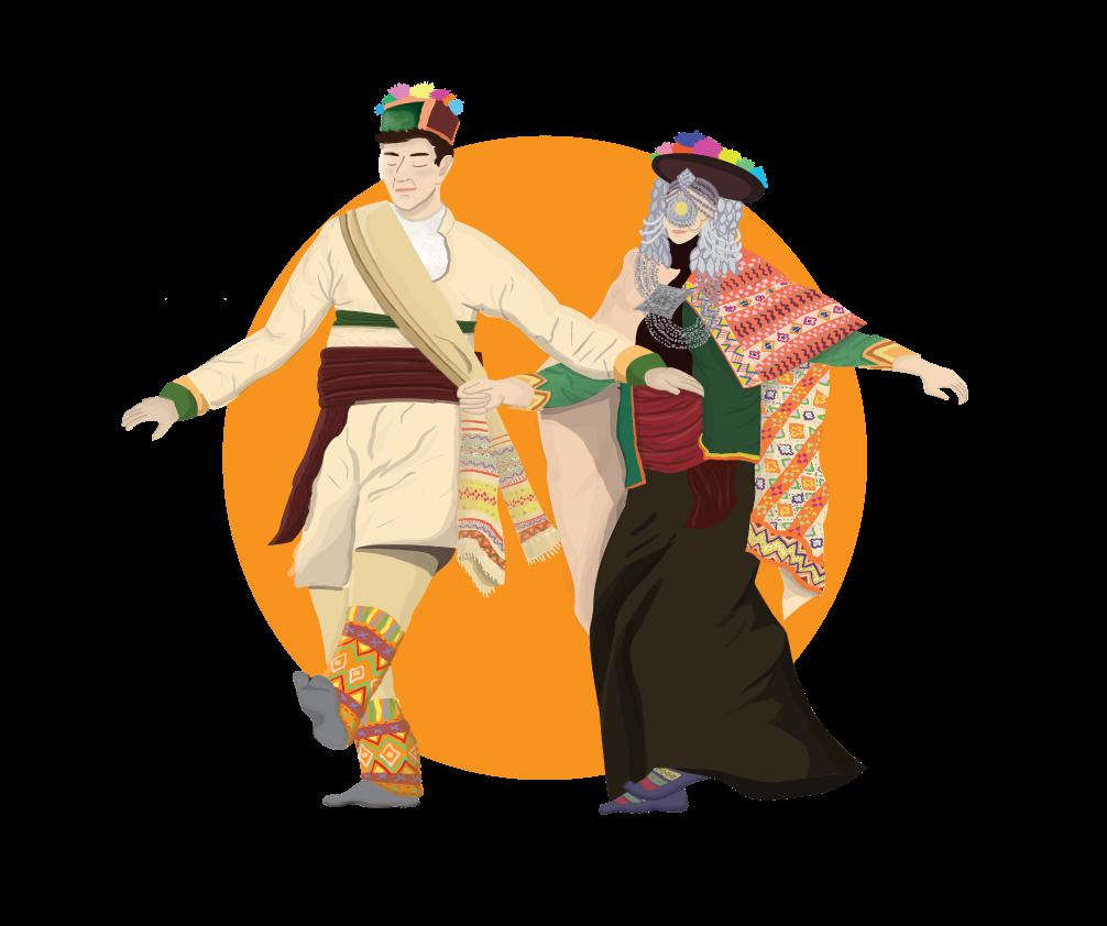 DANCE   dance form HImachal Pradesh costume kinnauri nati poster Poster Design traditional dance