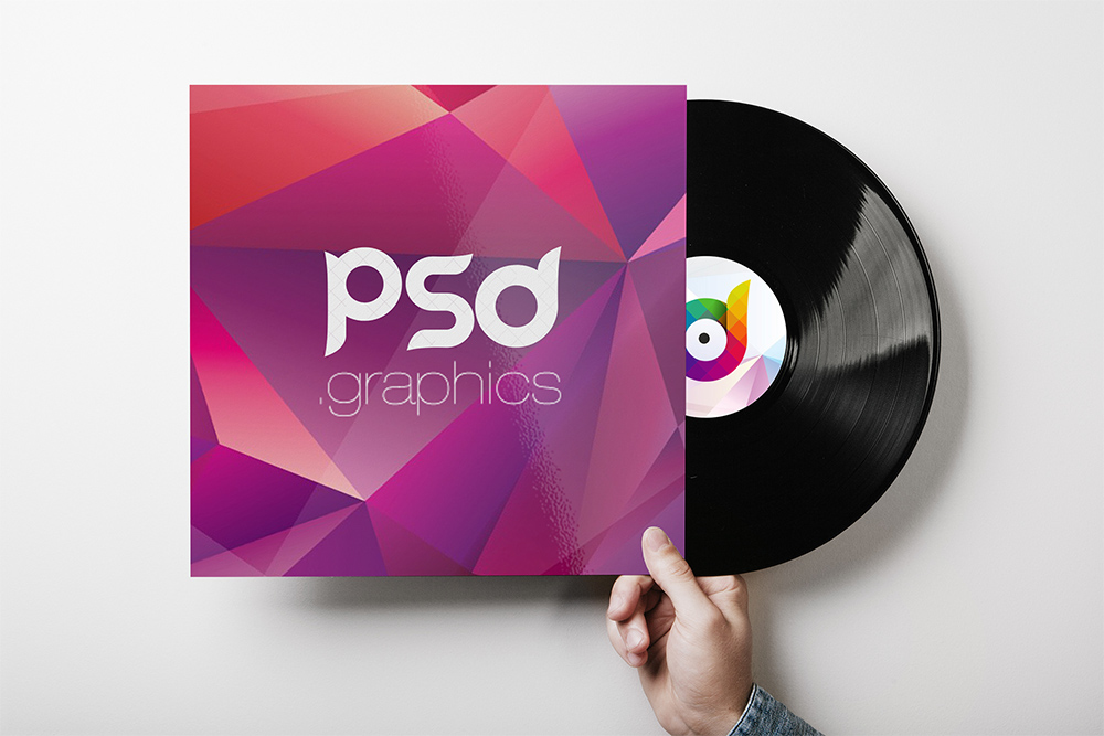 vinyl record cover mockup psd template on behance