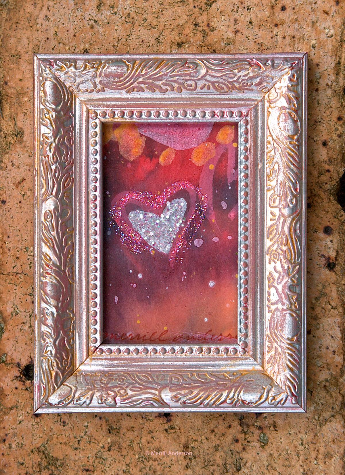 Adobe Portfolio miniatures Love hearts Sun light Paintings gifts inspiration sparkles