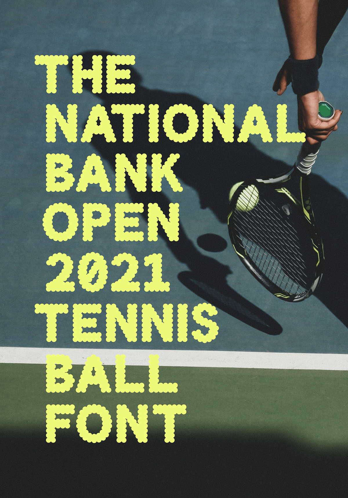 ball Canada font lime tennis type type design Typeface typography