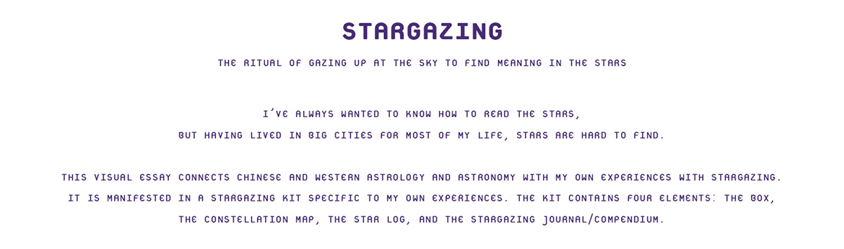 Stargazing Kit On Behance - How to read a star map