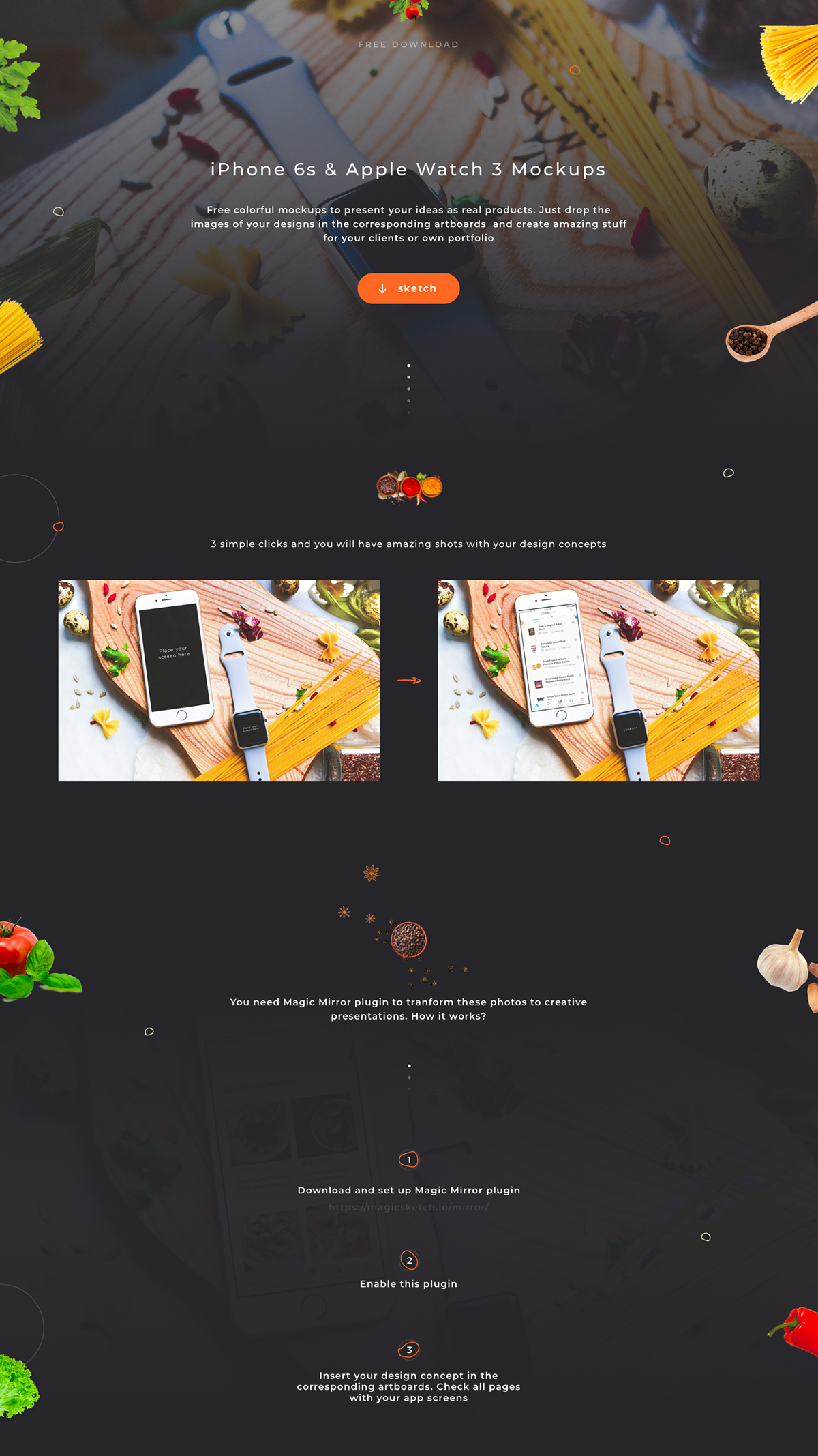 Free iPhone 6s & Apple Watch 3 Mockups - Sketch on Student Show