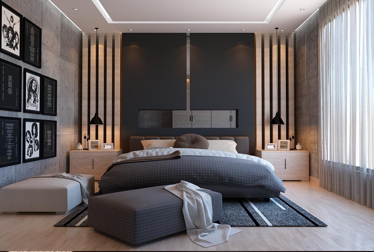 Black Bedroom On Behance