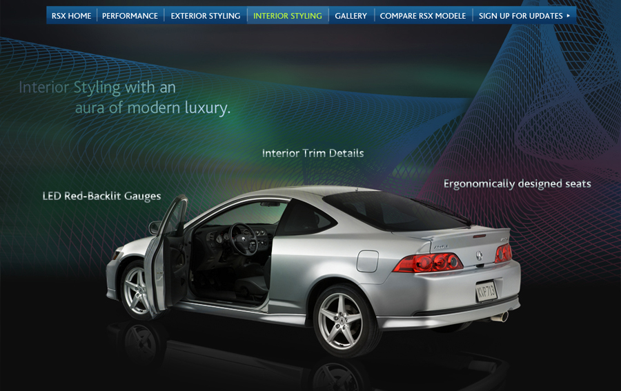 future futuristic Cars elegance modern Acura UI
