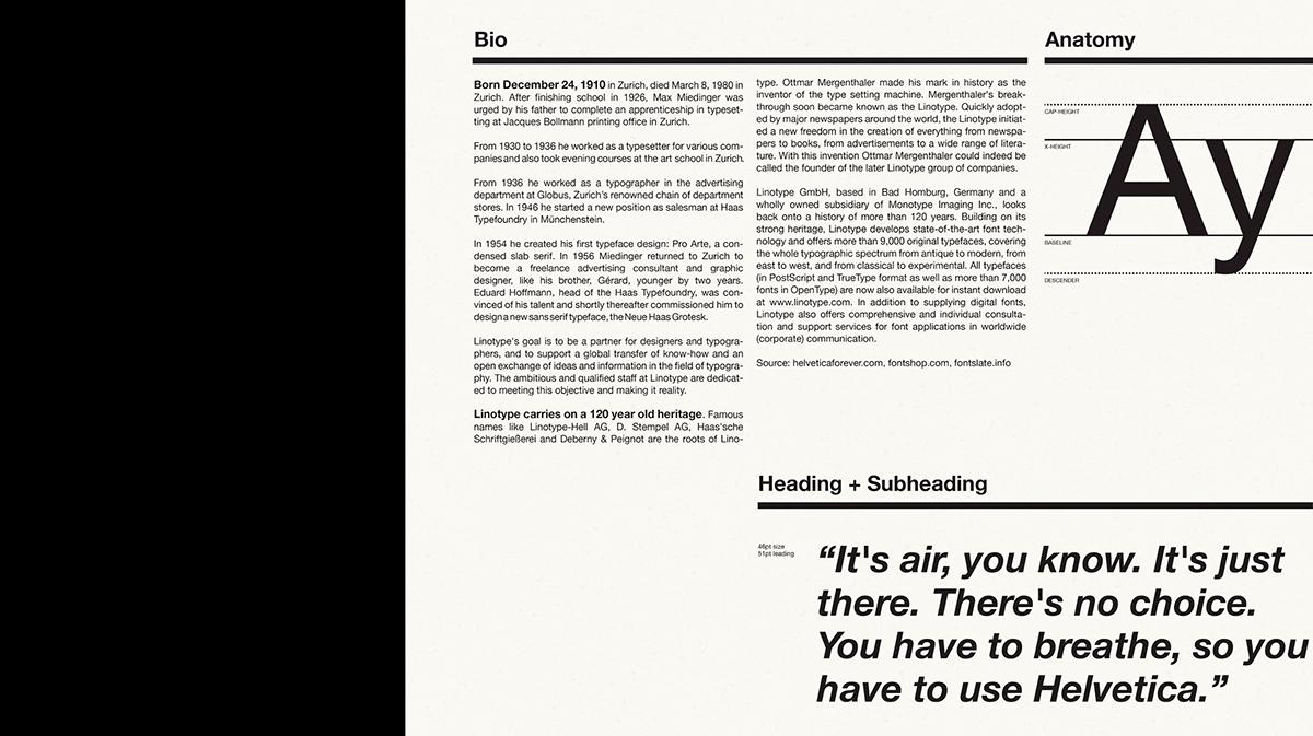 Helvetica Neue Type Specimen On Pantone Canvas Gallery