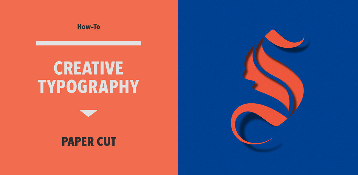 papercut tutorial text effect lettering how-to Creative typography cutout typekit customtype papertype learningtypography