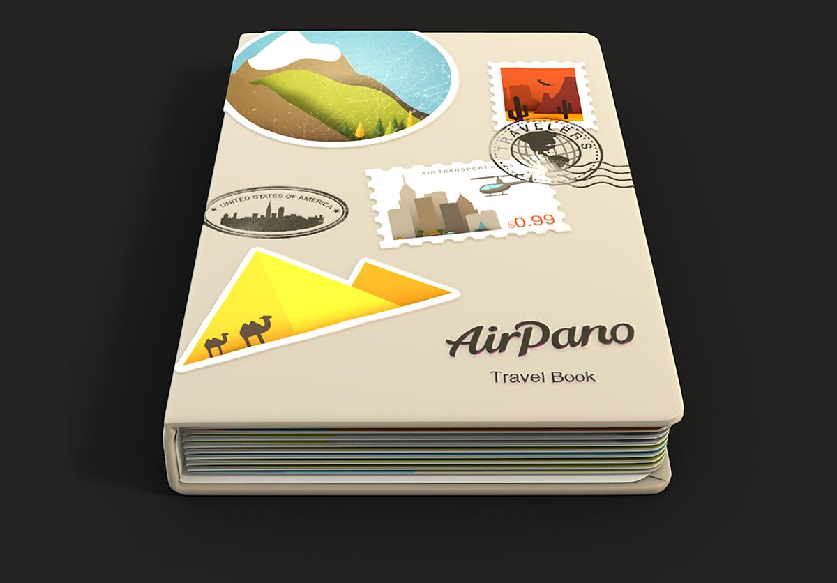 photo panorama mobile iPad app application UI ux book 3D