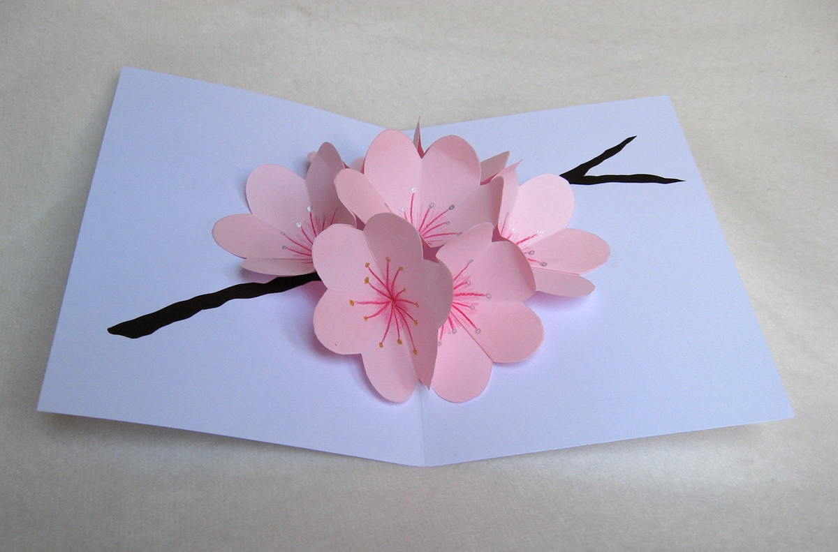 flower pop up cards on behance
