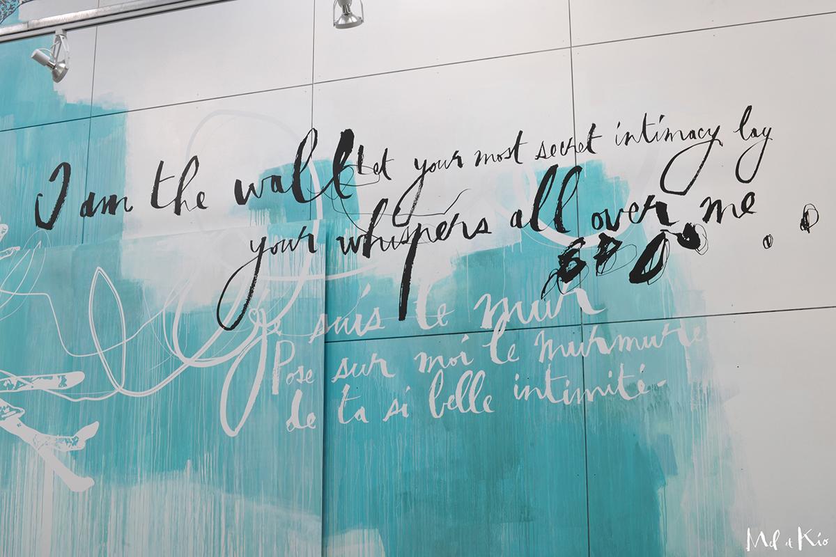 Art mural art mural de commande art mural intimité art mural monumentale art mural poétique Collectivités décoration monumentale Décoration murale design Mural entreprise facade mel et kio poetic wall design