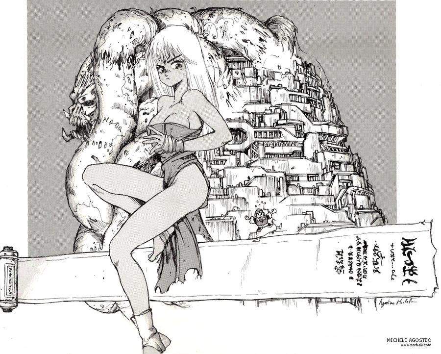 Fan Art indian ink manga masamune shirow comics screentones orion comic