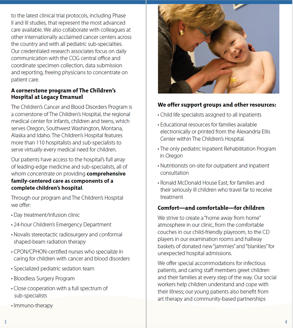Collateral graphic design  healthcare InDesign Layout typography