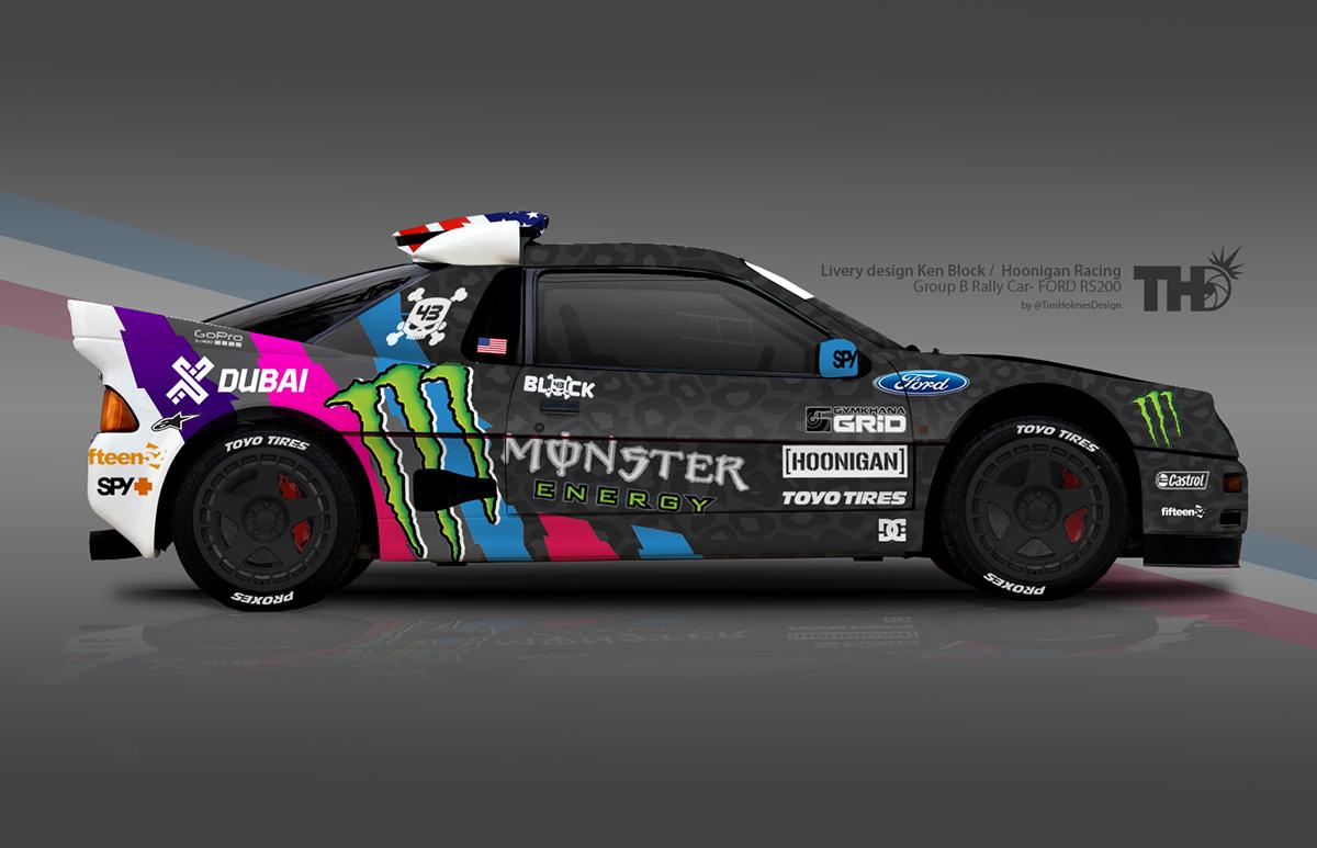 Hoonigan Racing concept artwork for Ken Block on Behance