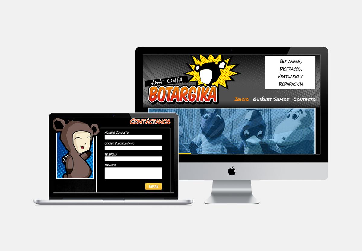 Web Design - Anatomía Botargika on Behance