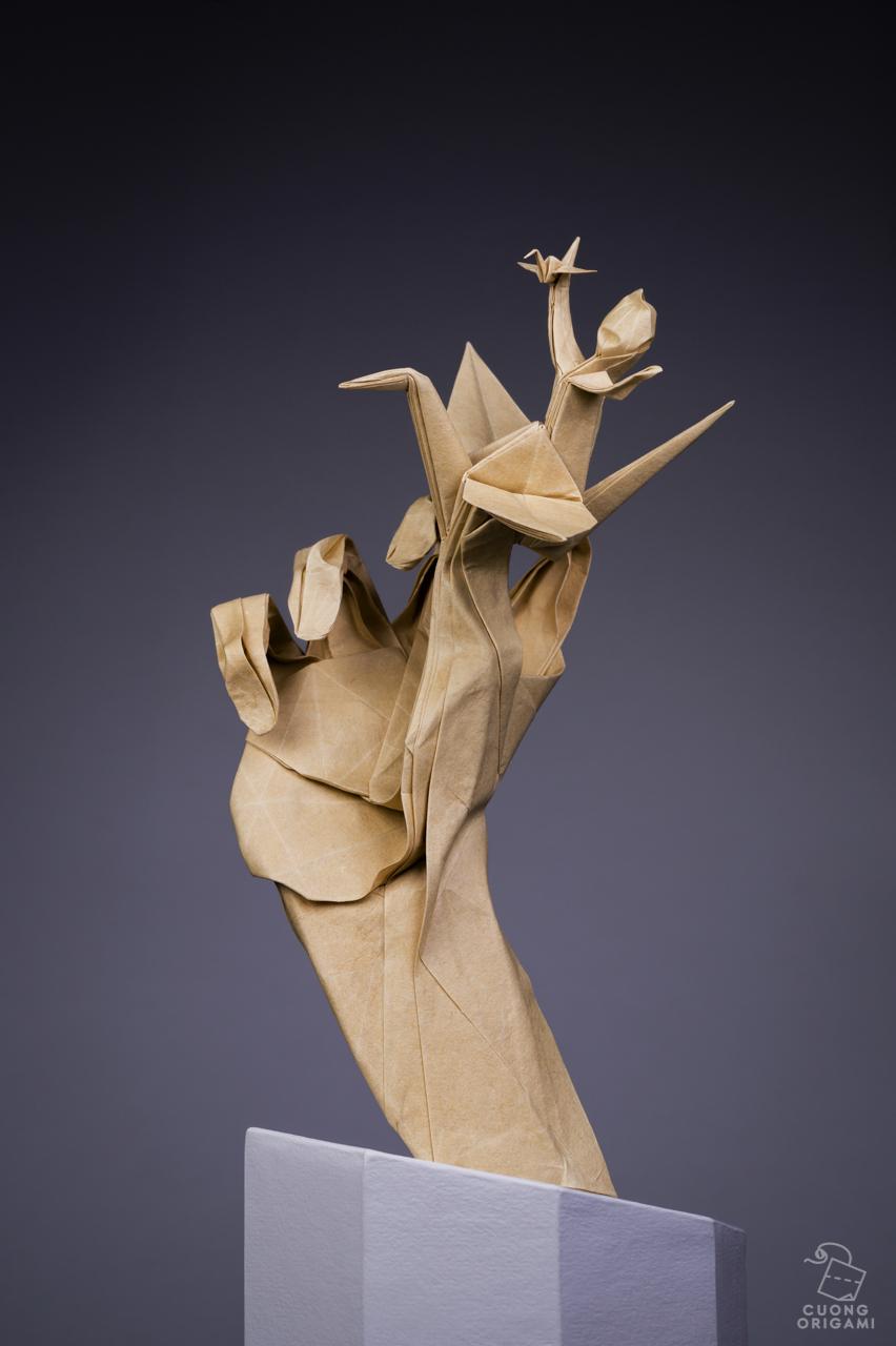 origami ,paper,sculpture,art,Hero,dream,crane,hand