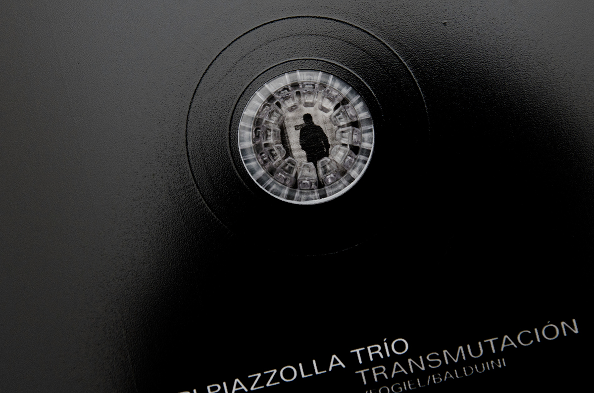 piazzolla Album jazz drums argentina cd sleeve cover optic optical effect musica black White pattern