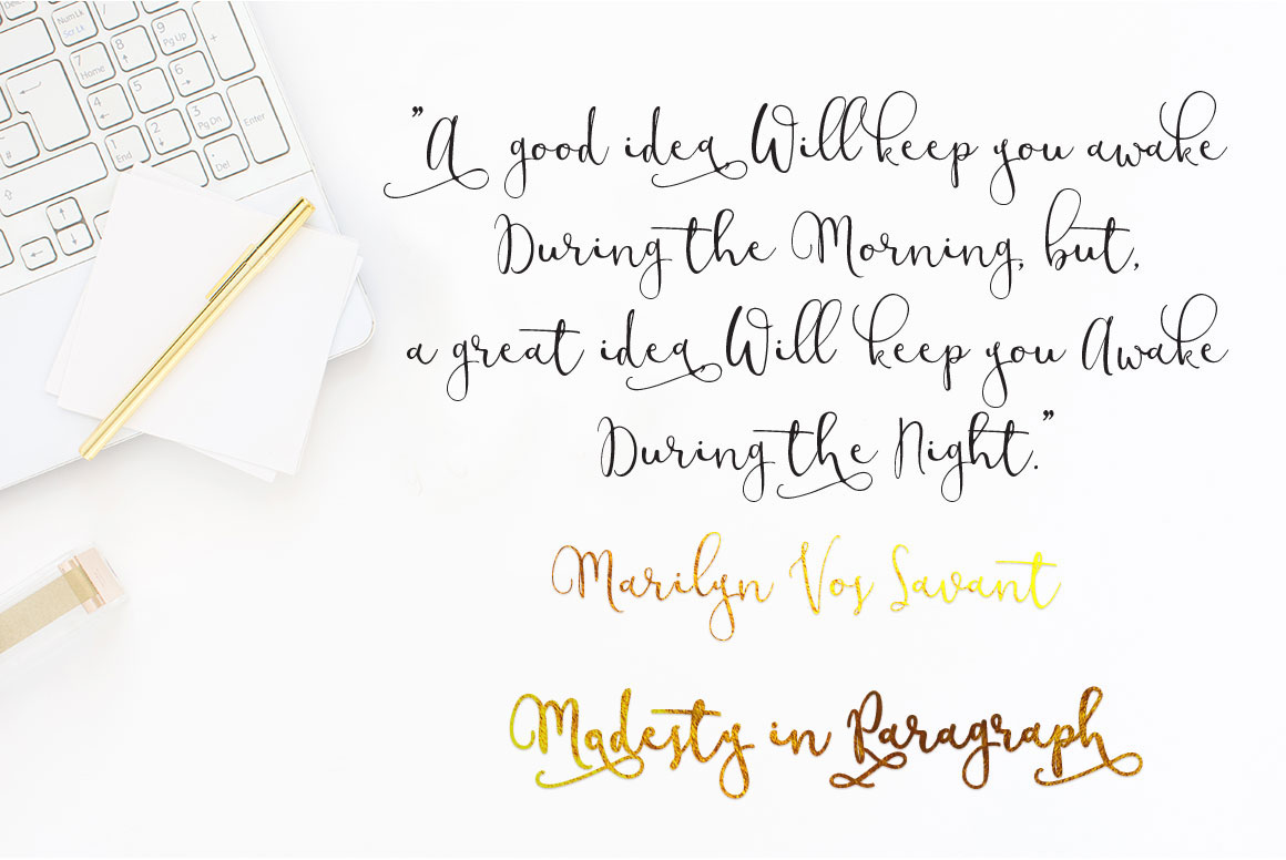 Modesty Font + Freebie Modern Calligraphy Script on Behance