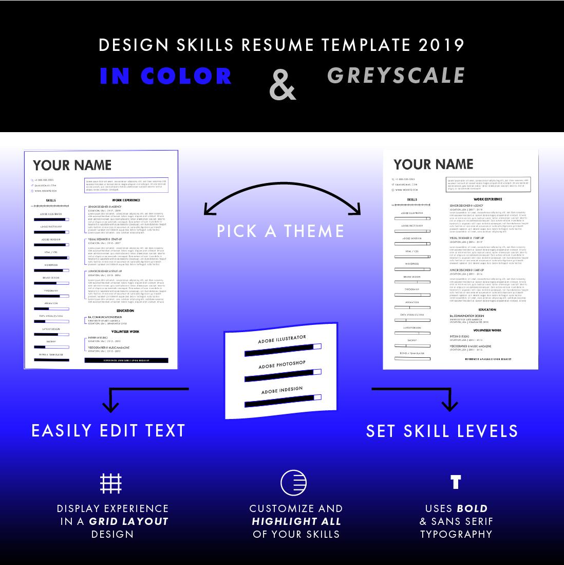 Free Design Resume For Adobe Illustrator 2019 On Behance