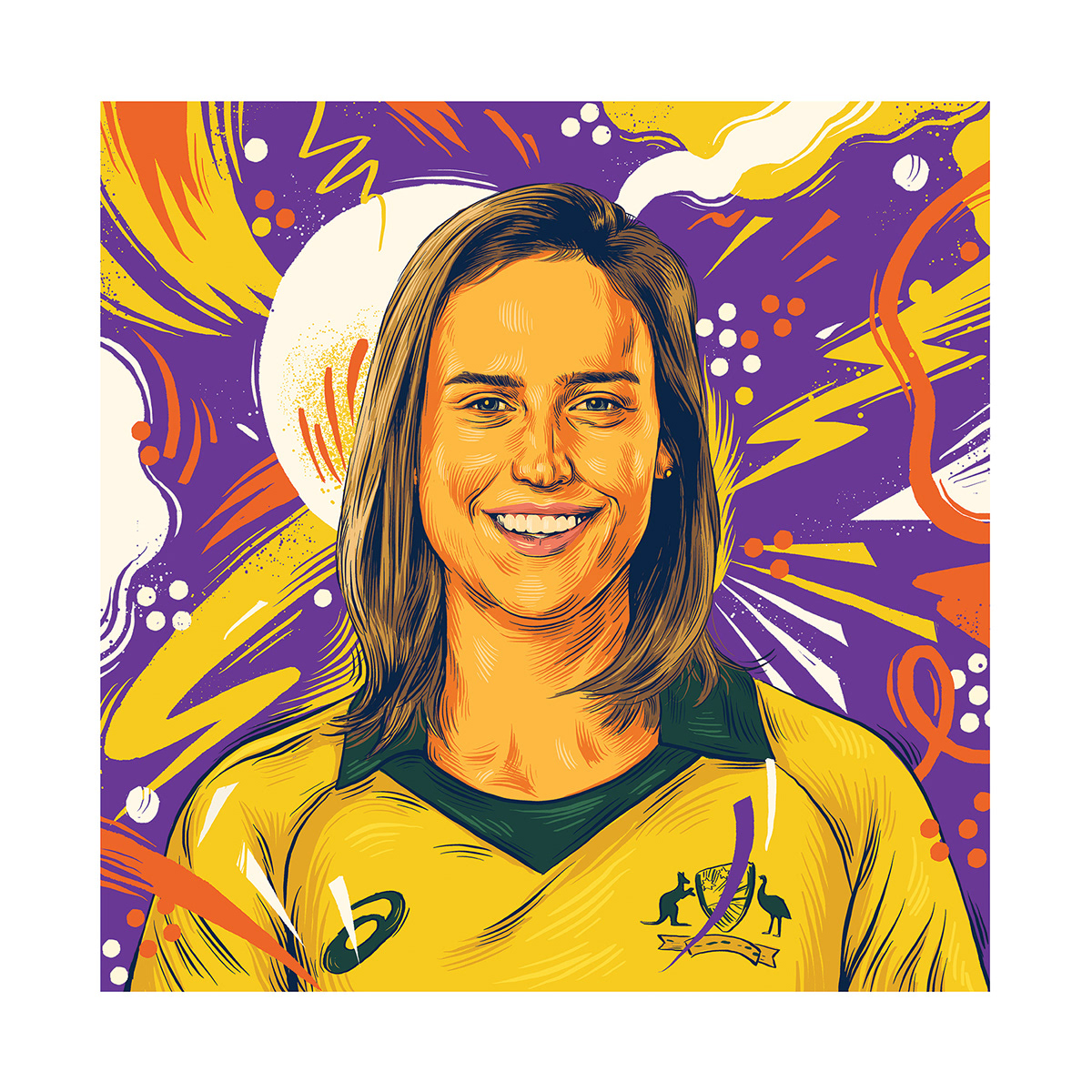 art artprint Cricket Digital Art  Drawing  ILLUSTRATION  painting   portratit sports sports illustration
