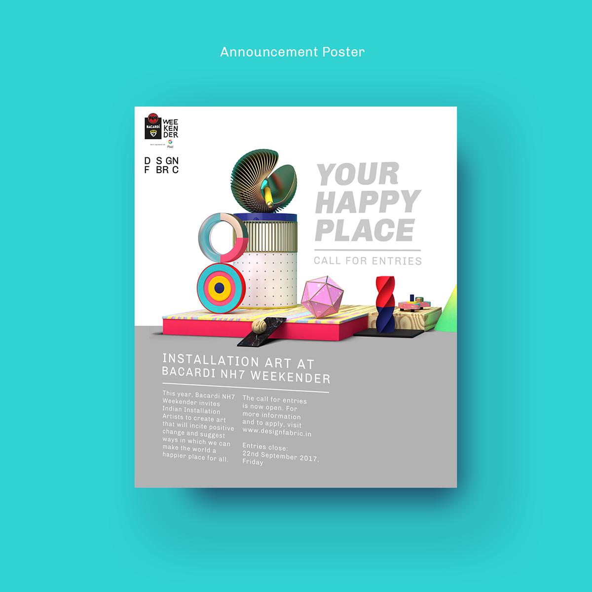 branding  art direction  identity cinema 4d typography   3D ILLUSTRATION  animation  festival music