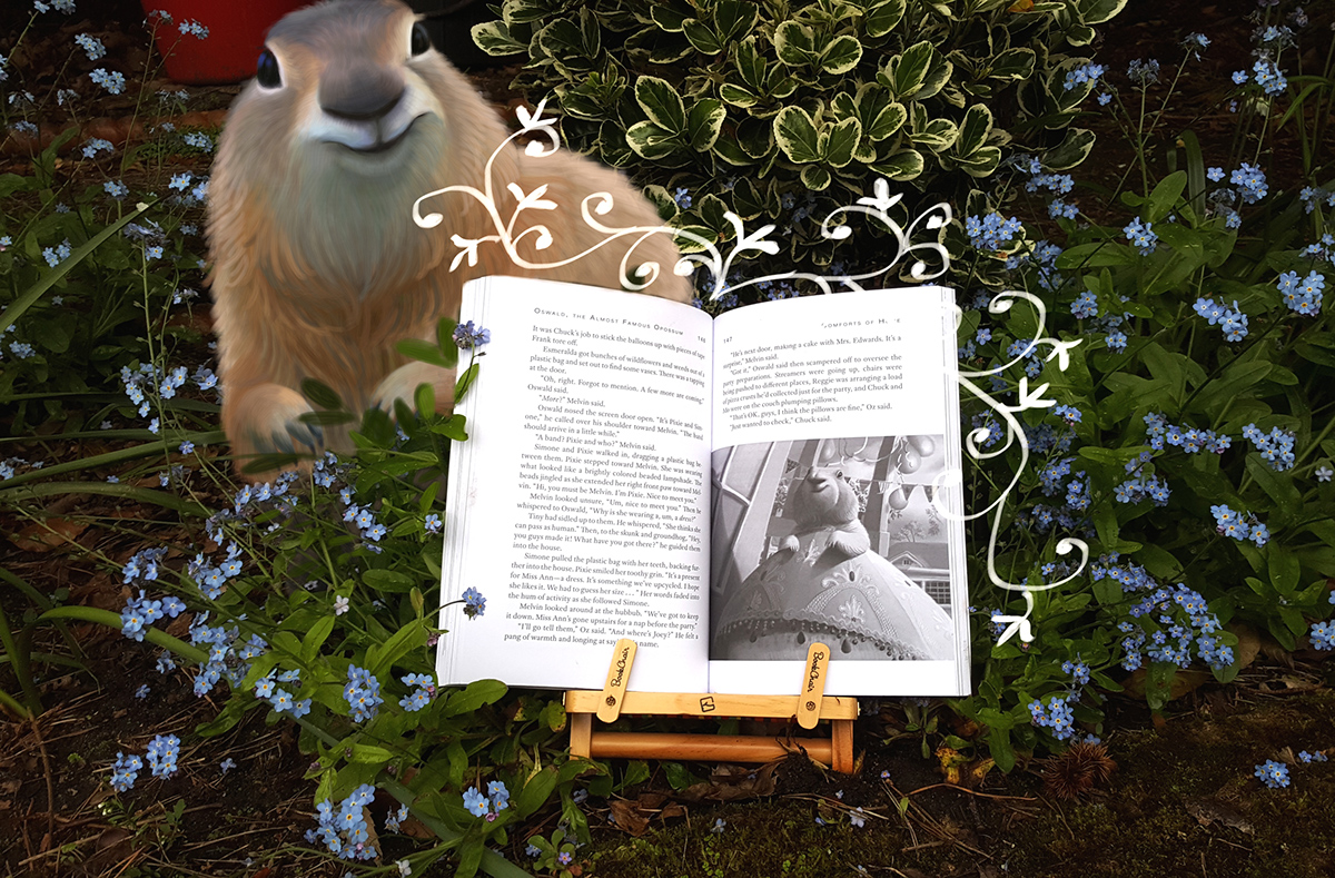 book,opossum,animal,boy,raccoon,Cat,Goose